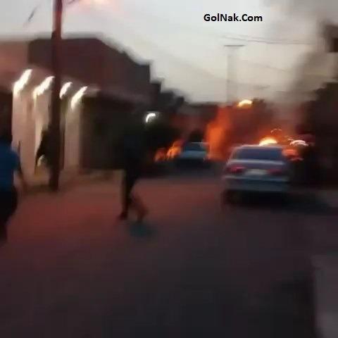 فیلم خودسوزی جوان 17 ساله از اهالی لشکرآباد اهواز + آتش زدن خودش