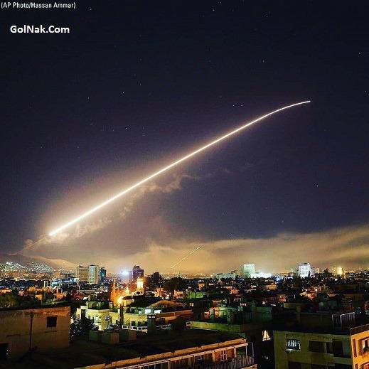 فیلم جنگ سوریه و حمله آمریکا به سوریه 25 فروردین 97 + جزئیات