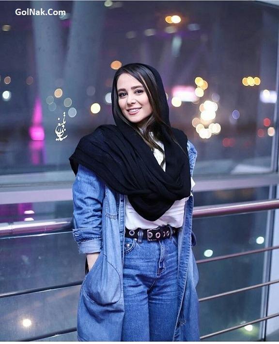 عکس تیپ جنجالی لباس الناز حبیبی در اکران خصوصی خجالت نکش با شلوار
