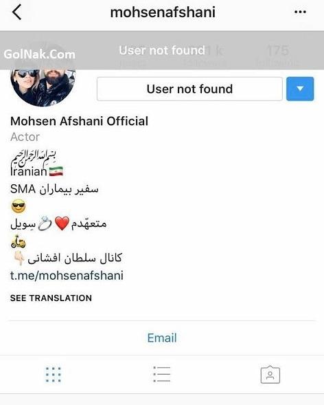 دلیل بسته شدن پیج اینستاگرام محسن افشانی و همسرش سویل